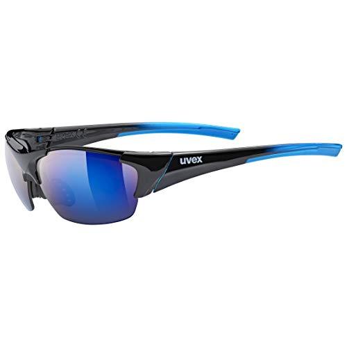 uvex Unisex– Erwachsene, blaze III Sportbrille, inkl. Wechselscheiben, black blue/blue, one size
