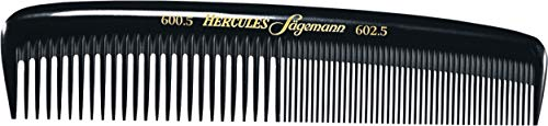 Hercules Sägemann 600-602 Profi Herrenkamm Naturkautschuk Haarkamm mit 2 Zahnungen grob + fein - 5 Zoll - Haarkamm Taschenkamm