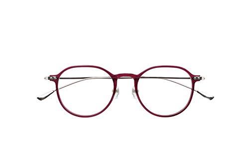 ピントグラス シニアグラス(老眼鏡1本で度数 +0.0D 〜 +1.75Dの累進設計) ファッションタイプ パープル