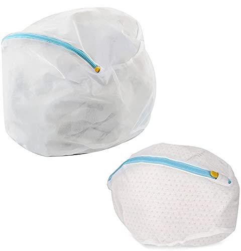 洗濯ネットランドリー ネットバッグ 洗濯袋セット ファスナーカバー付 絡み防ぎ 型崩れ防止洗濯袋 ウォッシュ バッグ ドラム式/乾燥機対応 旅行・家庭用 超細目 (サイズ2)
