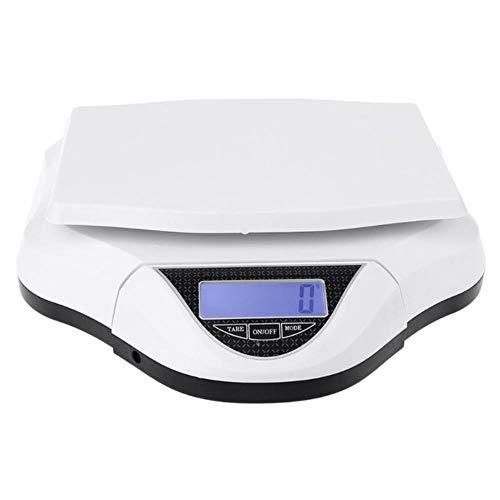 AHDJDHY 1g Balanzas electrónicas Desmontables - Balanza Digital de Cocina de precisión para Poste Paquete Laboratorio Industria 30 kg, Blanco