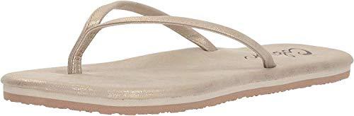 Cobian Women's Nias Flip-Flop, Gold, 10 M US