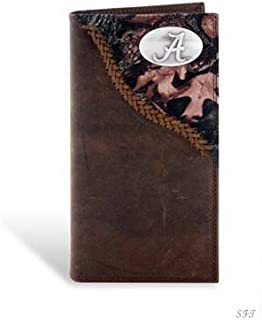 Alabama Leather Checkbook Wallet Camo