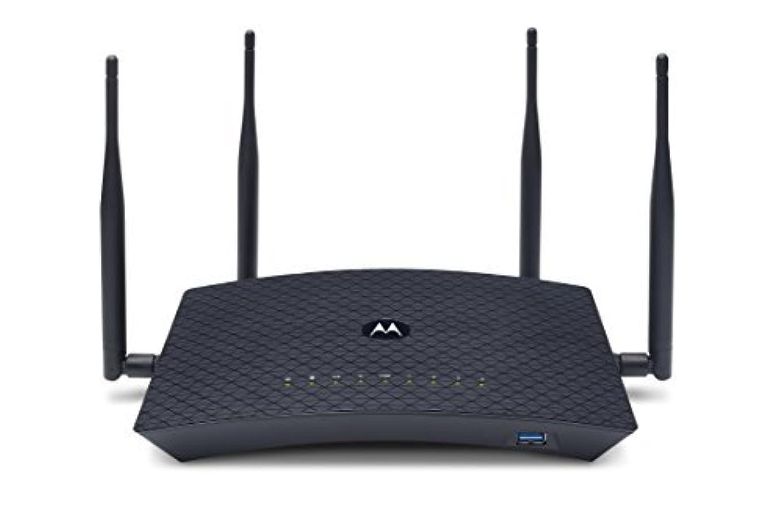 MOTOROLA AC2600 4x4 WiFi Smart Gigabit Router with Extended Range, Model MR2600