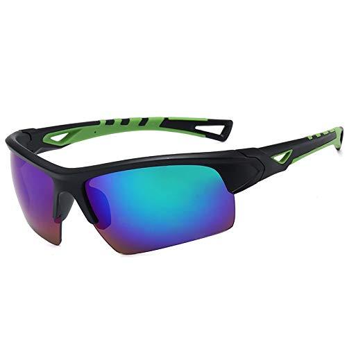 JFSZZ Gafas de ciclismo para hombre y mujer, de Mtb para bicicleta, UV400, para ciclismo, carretera, bicicleta de montaña, color negro y verde