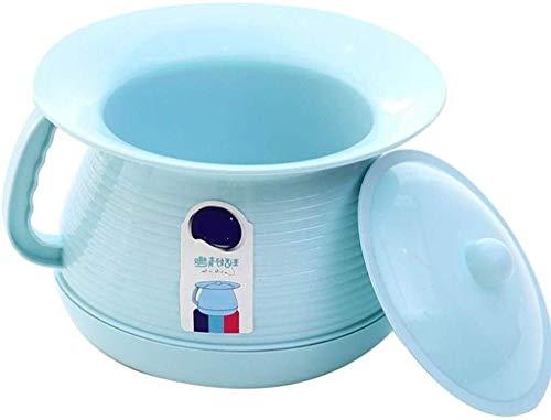 LZQOU Urinal Kunststoff Emaille Eindickung Kinder Potty Urinal Urin Eimer Erwachsener Bedpan Urinalbecken for Männer Und Frauen-Haushalts-Toiletten Mit Deckel Urin Eimer (Color : Blue)