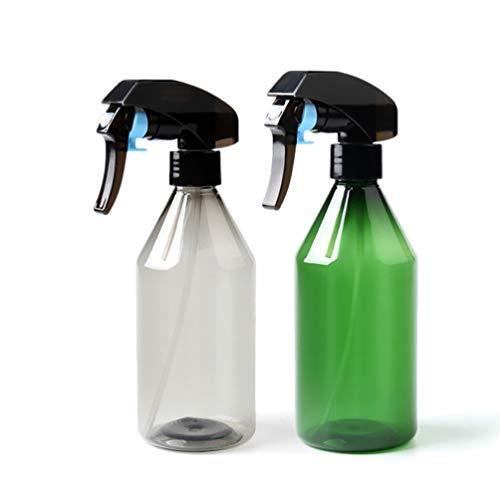 UPKOCH 2pcs bouteilles de spray en plastique vides contenant réutilisable pour produits de nettoyage aux huiles essentielles aromathérapie 300ml (vert clair et noir)