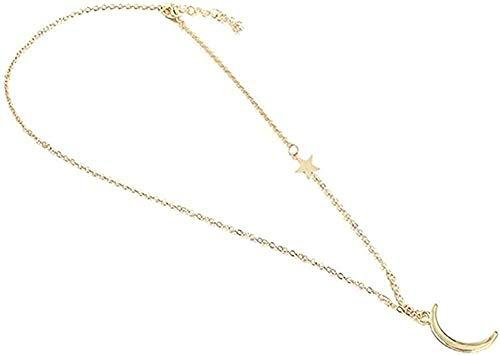 LKLFC Collar Aleación Señora Collar Colgante Collar Oro Cristal Colgante Collar Señora Regalo Colgante Collar Regalo para Mujeres Hombres Niñas Niños