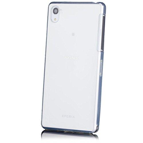 iCues - Custodia Protettiva per Sony Xperia Z2, in TPU Trasparente, Pellicola Protettiva per Display Inclusa, Trasparente