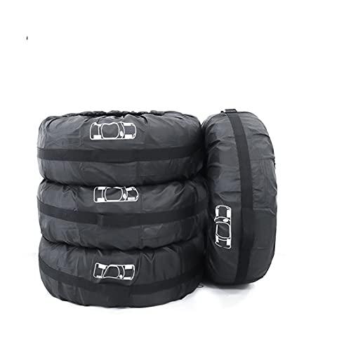 Funda Protectora Para NeumáTicos,Fundas De Rueda 4 unids Cubierta de neumáticos de repuesto Caja de poliéster Automóvil Neumáticos Bolsa de almacenamiento Cubiertas Auto Coche Accesorios de neumáticos