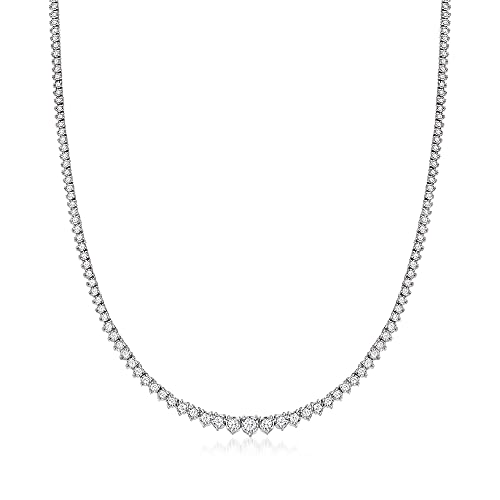 Ross-Simons 3.00 ct. t.w. Diamond Tennis Necklace in Sterling Silver. 16 inches