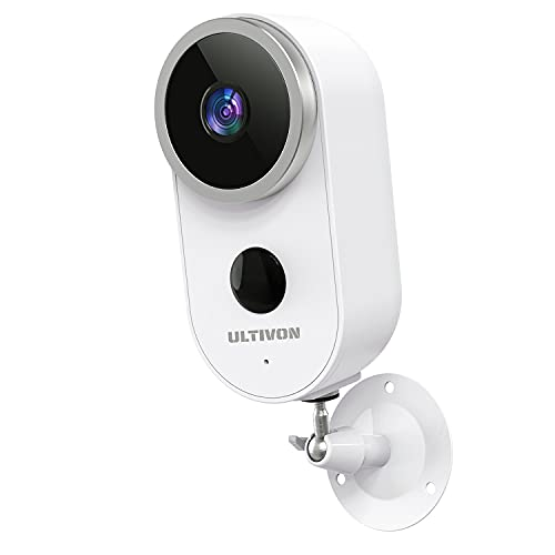 Cámara Vigilancia Exterior WiFi con Batería Recargable Inalámbrica, Ultivon A4 Cámara IP 1080P con Audio Bidireccional Visión Nocturna Impermeable PIR Detección de Movimiento para Hogar Seguridad