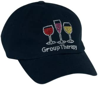 Wine.com Black Bling Group Therapy Ladies Hat
