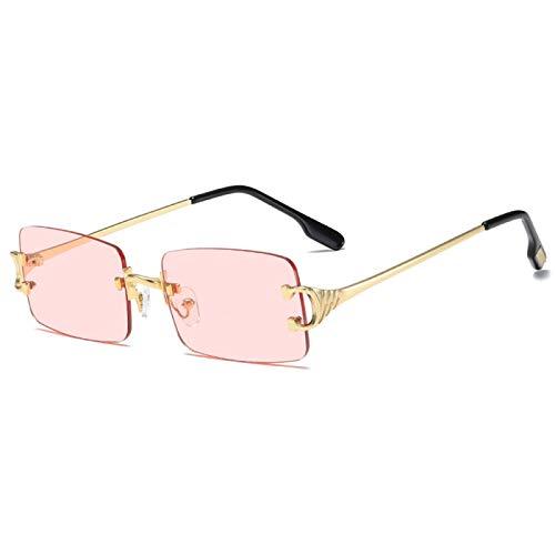 ZXY Gafas de Sol Sin Montura, Pasarela de Tiro Callejero, Las Mismas Gafas de Sol, Gafas de Sol de Moda para Hombres y Mujeres,C4