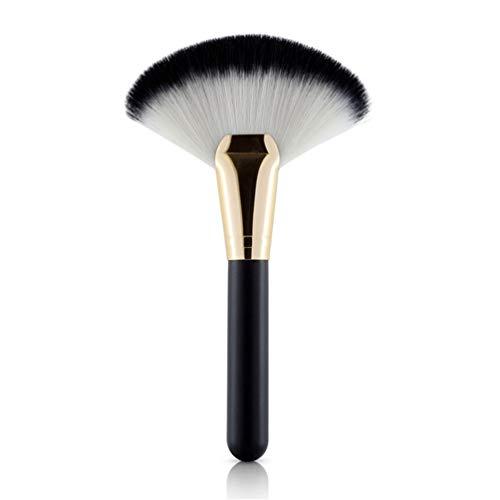 1Pcs Pinceau De Maquillage Des Femmes Dames Fan Forme Cosmétique Poudre Surligneur Contour Outil Pinceau Cosmétique,D'or
