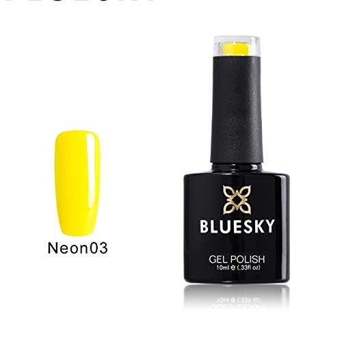 Shellac Nails por Bluesky neón Canarias Shellac Gel Amarillo 10ml