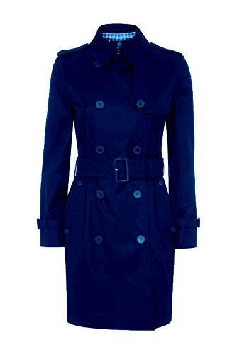 Aquascutum Trench Giacca Giubbotto London Donna Women Franca Db Rainwear Navy (44 It Donna)