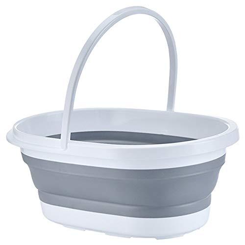 Cubo plegable rectangular plegable y práctico cesta portátil para fregona, cubeta de...