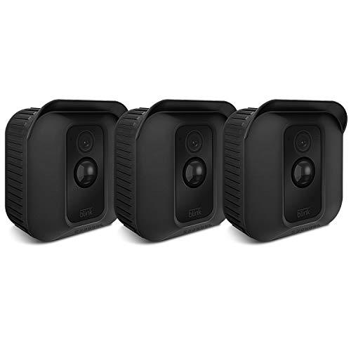 CASEBOT Silikon Hülle für Blink XT2 / XT Kamera - (3er Set) weiche Leichte Dünne Kratzfeste Silikon Abdeckungen Skins Schutzhülle für Blink XT / XT2 Videoüberwachung Kamera, Schwarz