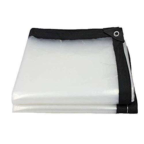 ZXHQ Lona De ProteccióN Transparente 3x8m, Lona Transparentes Impermeables, Lona Transparente Exterior con Ojales Durable ProteccióN FríO para Plantas Invernadero Coche