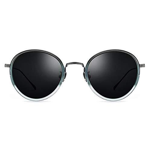 Faus Koco Gafas de sol polarizadas ultraligeras con montura de gradiente verde y lentes grises protección UV400