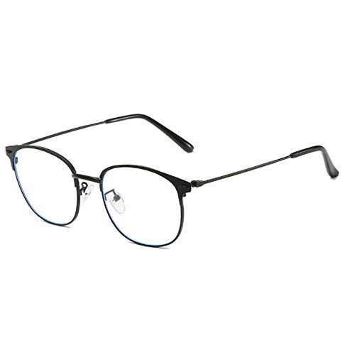 KoKoBin Metall Lesebrille Blaulichtfilter Computer Brille Herren Damen Scharnier Sehhilfe Lesehilfe Stärke Mode Leser(Schwarz,+2.5)