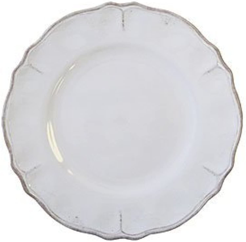 Le Cadeaux Rustica Antique White - Melamine Salad Plates - Set of 8