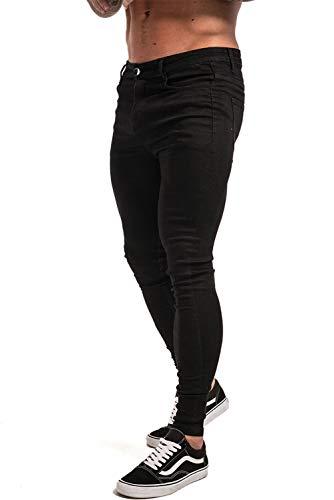 (ジンット)GINGTTOジーンズメンズダメージジーンズメンズスキニーパンツ美脚細身(28,ブラック)