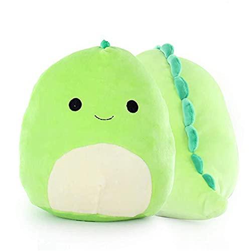 Taloit 3D Dinosaur Pillow Cute Plush Dinosaur Stuffed Animal Soft Lumbar Back Cushion Plush Toy for Car Home Decor Green