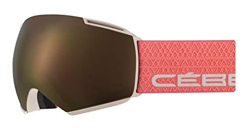 Cébé Icone Gafas de Ski Matt Sand Salmon Adultos Unisex Large, Brown/Pink