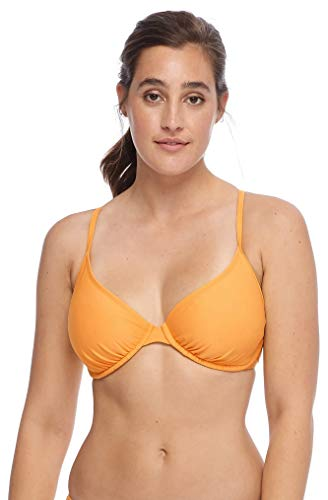Body Glove Women's Solo Solid Underwire Bikini Top Swimsuit, Smoothies Sundream, DD-cup