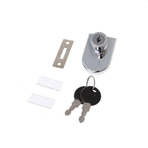 Zuanty Vitrine eintüriges Schrankschloss Glastürschloss Ersatz mit 2 Schlüsseln