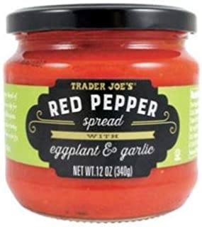 Trader Joe's Red Pepper Spread with Eggplant and Garlic NET WT. 12 OZ (340g)