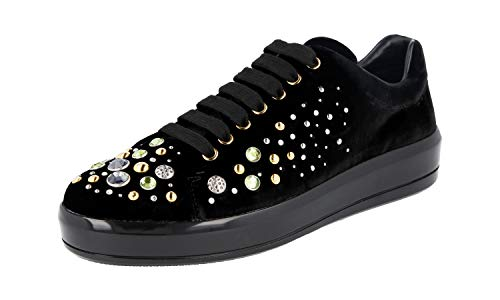 Prada Damen Schwarz Samt Sneaker 1E971H W72 F0002 38.5 EU