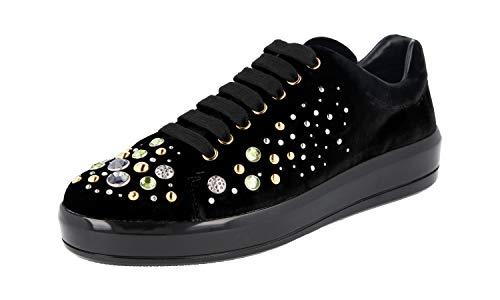 Prada Damen Schwarz Samt Sneaker 1E971H W72 F0002 39 EU