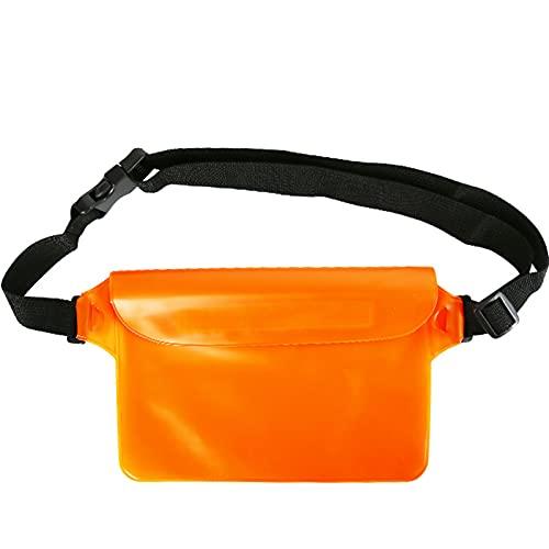 XFY Bolsa Impermeable, Bolsa Impermeable con Correa de Cintura, Bolsa de Playa, Sistema de Tres Capas a Prueba de Agua Super Impermeable, para Nadar Buceo