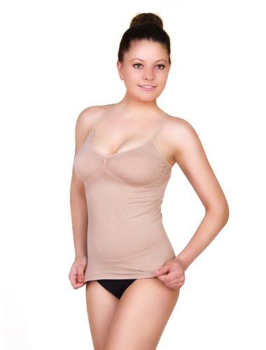belly cloud Damen Unterhemd, Belly Cloud Basic seamless Top, Gr. 40/42 (L), Hautfarben (haut)