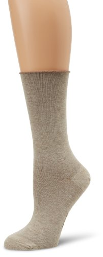 HUE Women's Jeans Sock (Pack of 3), Oatmeal Heather, One Size