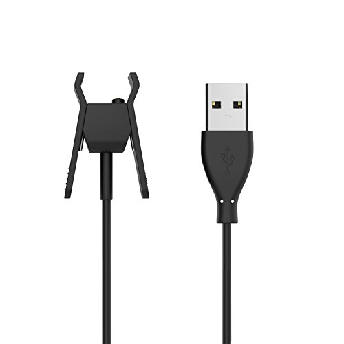MoKo Fitbit Alta Smart Watch Ladegerät Charger - Premium Ersatz USB-Ladekabel Ersatz-Ladegerät Ladestation Charging Dock Adapter USB Ladekabel für Fitbit Fitness Armband Alta, Schwarz