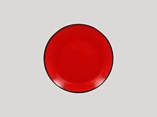 RAK Porcelain FIRE -Coupe Plate Teller -RED- flach- Durchmesser: Ø 24m, 12 Stück