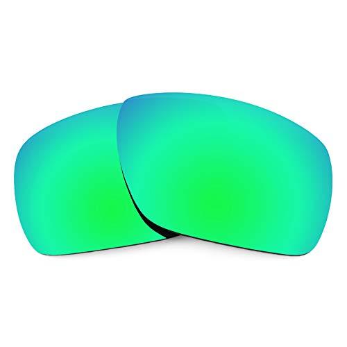Revant Ersatzgläser für Oakley Dispatch 1, Polarisiert, Elite Smaragdgrün MirrorShield