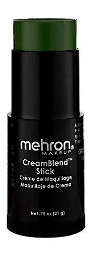Mehron Makeup CreamBlend Stick (0.75 Ounce) (GREEN)