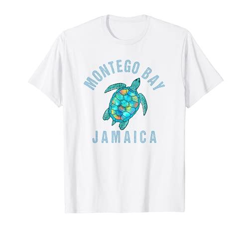 Montego Bay Stranddesign / Meeresschildkröte Illustration Geschenk T-Shirt