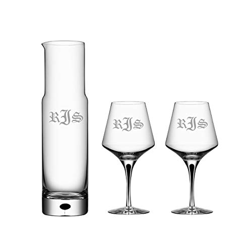 Personalized Crystal Wine Decanter Set