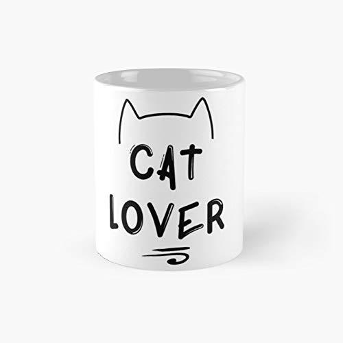 Taza clásica negra para amantes de los gatos | El mejor regalo divertidas tazas de café de 325 ml
