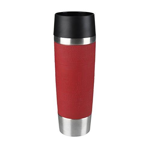 Tefal K3084214 Travel Mug Grande, Reusable Drink Bottle To Go, Quick Press Closure, Red...