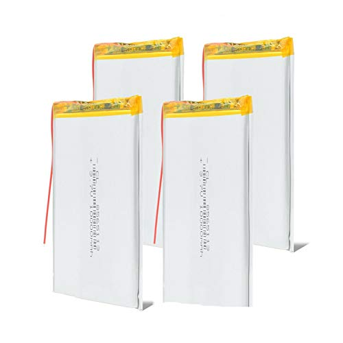 RFGTYH Batería Recargable de polímero de Litio Li-Po de Celdas de li-Ion de 3,7 v 10000 mAh, para interfono móvil Searchlight POS 4pcs