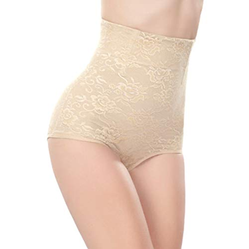 Women Butt Lifter Shapewear Women Body Shapewear Best Slim Waist Trainer Corset Seamless High Waist Butt Lifter Tummy Control Panty Pack of 3 Waist Trainer Body Shaper (Color : Nude, Size : XXL)