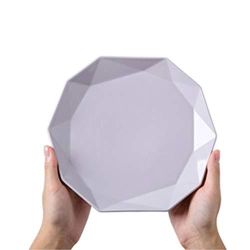 XIUXIU Assiette plate de plats européens de macarons plats irréguliers Céramique Dessert Collation Assiette De Steak Ouest (Color : Purple, Taille : 26x2.7cm)
