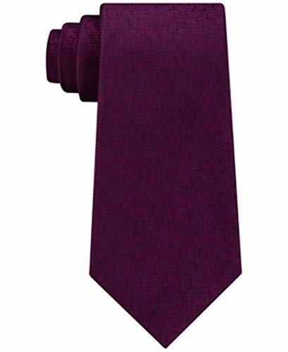 Calvin Klein Mens Digital Unsolid Self-tied Bow Tie, purple, One Size